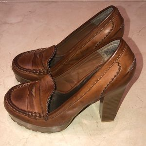 Mia Shoes - MIA Brown Kayte Loafer Pumps